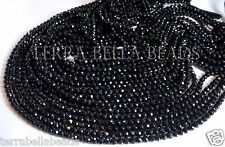 "13"" strand black SPINEL faceted ROUND gem stone beads 3mm"
