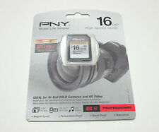 PNY 16G class 10 SD card fo Canon Powershot A4000 IS A2300 A3400 A1300 300 SX160