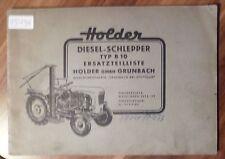 Holder Schlepper B10 Ersatzteilliste