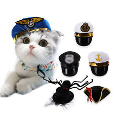 Funny Pet Costumes Cat Dog Cosplay Hat Halloween Policeman Pirate Puppy Cap Prop