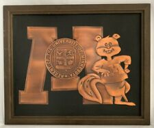 University Of Minnesota Gophers Football Copper Plaque, Acrometal, 1960's, 18x22