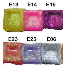 Exx  Pearlescent Metallic Glitter Sparkle Organza Sheer Fabric dress Material