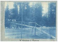 France, Lozanne (Rhône), L'Azergues à Lozanne  vintage print  cyanotype