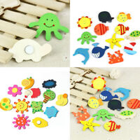 12 x Cute Baby Cartoon Fridge Magnet Wooden Animal Child Educational Toys