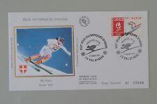 France FDC 1er jour 2710 17 août 1991 jeux olympiques d'hiver