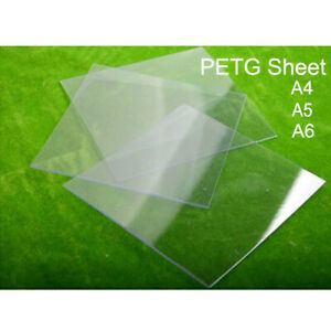 PETG Plastic Sheet Clear 0.5mm - 1.5mm Thick A6 - A4  Moulding Vacuum Forming