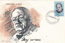 Stamp Australia 5d Winston Churchill on 1965 Eric Ogden specific cachet FDC