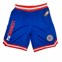 NBA Mens Kawhi Leonard 2 Los Angeles Clippers Shorts Blue Size Large VSM6637S