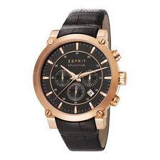 Esprit Collection Herren Uhr Armbanduhr Chrono Poros Leder EL102121F06 NEU OVP