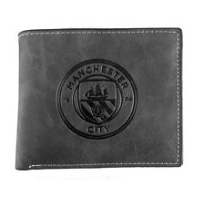 Man City Grey Faux Suede Wallet-Man City Suede Feel Wallet - Ideal Football Gift