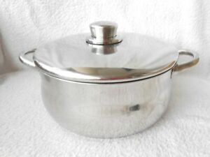 Silampos Portugal Stellar Stainless Steel Cooking Pot & Lid 23cm Diameter