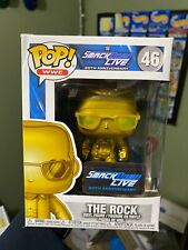 Funko Pop Wwe The Rock Metallic Gold #46 Target Exclusive Condition 7.5/10
