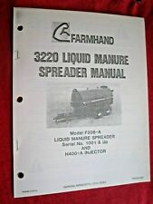 Farmhand 3220 Liquid Manure Spreader Operators Maintenance Amp Parts Manual