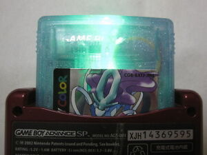 Green Shining Custom Game Boy Color POKEMON CRYSTAL New Backup Nintendo Japanese