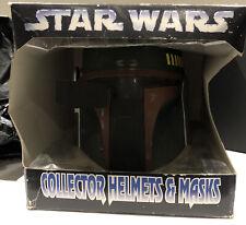 More details for star wars don post collector helmets & masks - boba fett - boxed & new