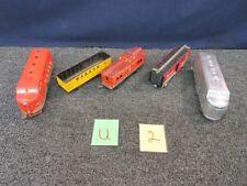 5 Marx Mar-Line Train Car Southern Pacific Wabash Engine Pressed Steel O-Scale