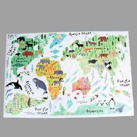 Colorful World Map Wall Sticker Decal Vinyl Art Kids Room Office Home Wallpaper