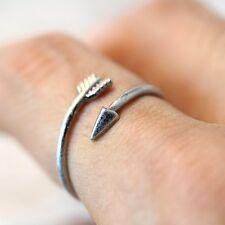 3D Arrow Punk Retro Silver Plated Knuckle Rings Men Women's Wrap Ring Jewelry