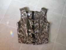 WOMEN'S TOP WITH ZIP AT BACK SIZE 10 CLOTH
