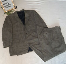 Polo Ralph Lauren Rare Vintage 2 pc Suit sz 46/40 Long Wool Herringbone