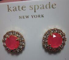 earrings neon glitter flo pink pave Kate Spade glowing secret garden stud