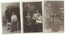 3x soldier group with Wife family Northampton Wellingborough photo