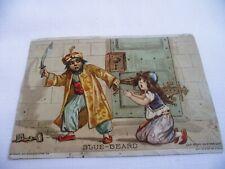 1894 BLUE-BEARD ADVERTISING POSTCARD WOOLSON SPICE COMPANY STORY ON BACK