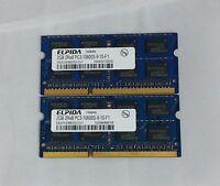 Elpida 4GB 2x2GB DDR3 PC3-10600S 2Rx8 LAPTOP MEMORY RAM
