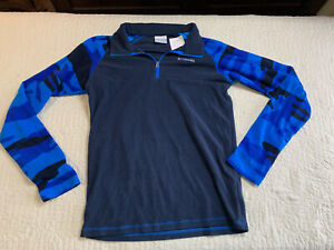 Columbia Pullover Long Sleeve Navy Blue Shirt Boys Size XL
