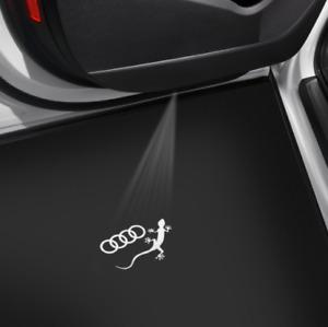 Audi Original LED Einstiegsleuchten 4G0052133K Ringe Gecko schmaler Stecker