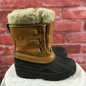 L.L. Bean Youth Kids Sz 4 Insulated Leather Waterproof Lace Up Duck Boots