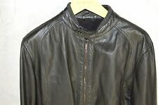 SUPER BEAUTIFUL !!! EMPORIO ARMANI MEN SOFT LEATHER MOTO JACKET EU 50 US 40