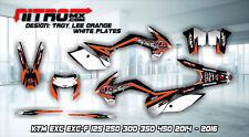 KTM Graphics Kit Decal Design Stickers  EXC EXC-F 125 250 300 350 450 2014-2016