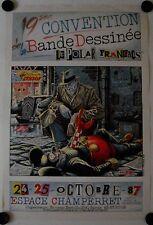 Affiche BANDE DESSINÉE POLAR FRANCAIS 1987 illustr. SOLÉ