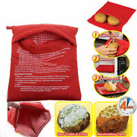 Microwave 4 Minutes Jacket Potato Cooker Bag Fast Washable Reusable Cook Express