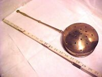 "Bed Warmer - Brass color - pierced (holes) lid & sides 19"" X 6"" X 2 1/2"" VINTAGE"