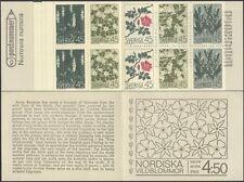Sweden 1968 Flowers/Orchids/Rose/Anemone/Cherry/Plants/Nature 10v bklt (s153c)