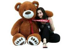 Personalized 5 Foot Teddy Bear Soft Life Size Big Plush Animal with Bigfoot Paws