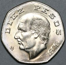 1976 Mexico 10 Pesos Hidalgo Gem BU Coin (21022701R)