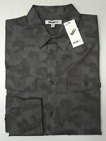 NWT William Rast Gray Camouflage LS Shirt Mens Size S M L Baker Grey NEW