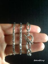 Bracelets Set 3 Bangles Silver Ethnic Bohemian Boho Gypsy Tribal Festival UK
