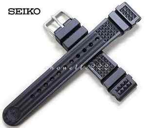 GENUINE SEIKO DE39AZ 20MM BLACK RUBBER MARINEMASTER STRAP SBDX001 SBDX003 MM300