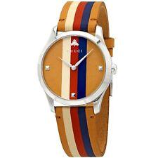 Reloj de cuarzo Gucci YA1264078 Para Hombre G-Marrón atemporal