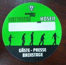 DTH Die Toten Hosen Live - Auswärtsspiel! Tour Gäste/Presse/Backstage Pass