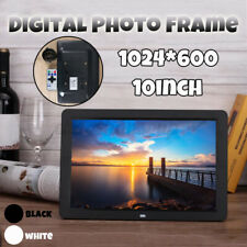 10 inch TFT LCD Digital Photo Frame Clock Alarm Music Player Album With Remote