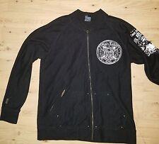 Blac Label Men's 2XL Jacket Premium Black Embroidered Full Zip Unique Design