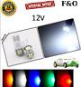 UPTO 10X 5 SMD LED 12V 5050 T10 W5W PUSH WEDGE CAPLESS SIDE LIGHT BULBS WHITE
