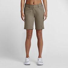 """Nike Golf Women's 9"""" Bermuda Short 2.0 - SIZE 4 (831319-325) CARGO KHAKI"""