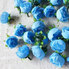 10Pcs Artificial Flowers Small Silk Rose Heads Flower Party Wedding Decor Gift