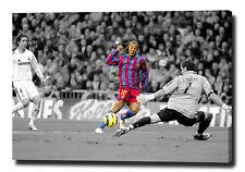 "RONALDINHO PRINT POSTER PHOTO PIC BARCELONA VS MADRID CANVAS WALL ART 30""x20"""